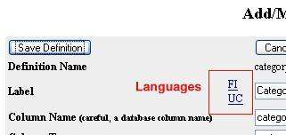 Languages in Definition